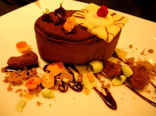 Chocolate and fig desert Guylian belgian chocolate cafe Sydney