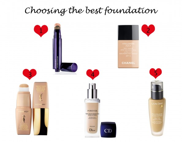 The best 5 foundations on market