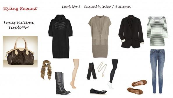 Styling advise, fashion blog, Sydney, crashingRed, styling Louis Vuitton bag Tivoli PM, casual look, autumn look, styling sweater dress, leggins, flats, jeans and jacket