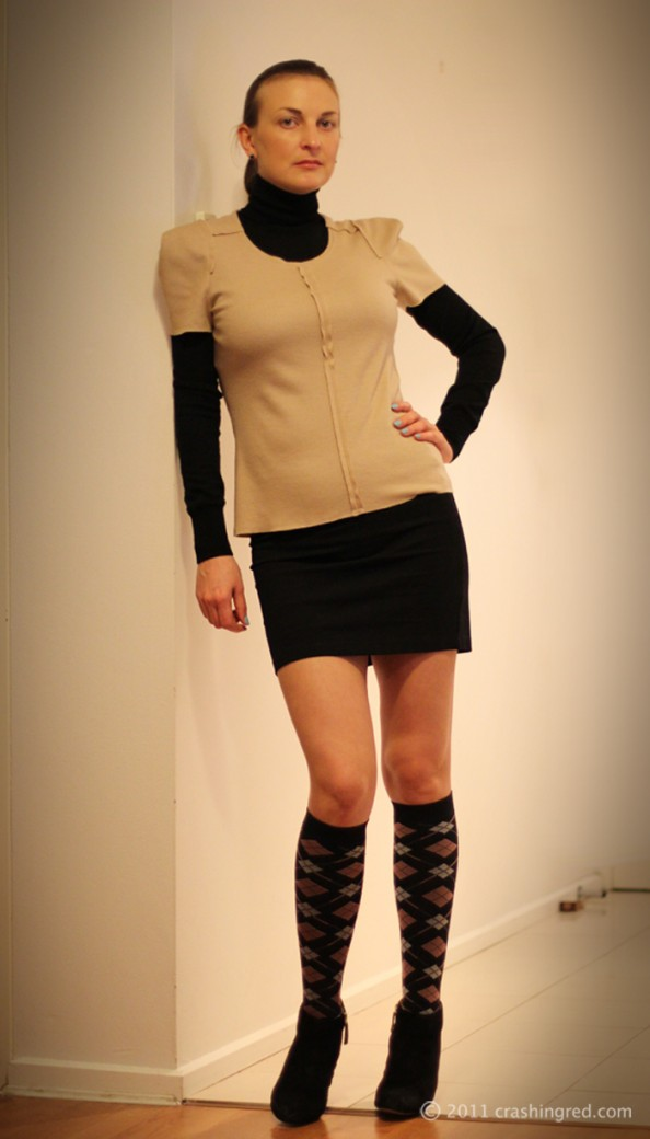 For facebook, crashingred, fashion blog sydney, outfit, country road top, layering, structured look, minimalism, styling socks