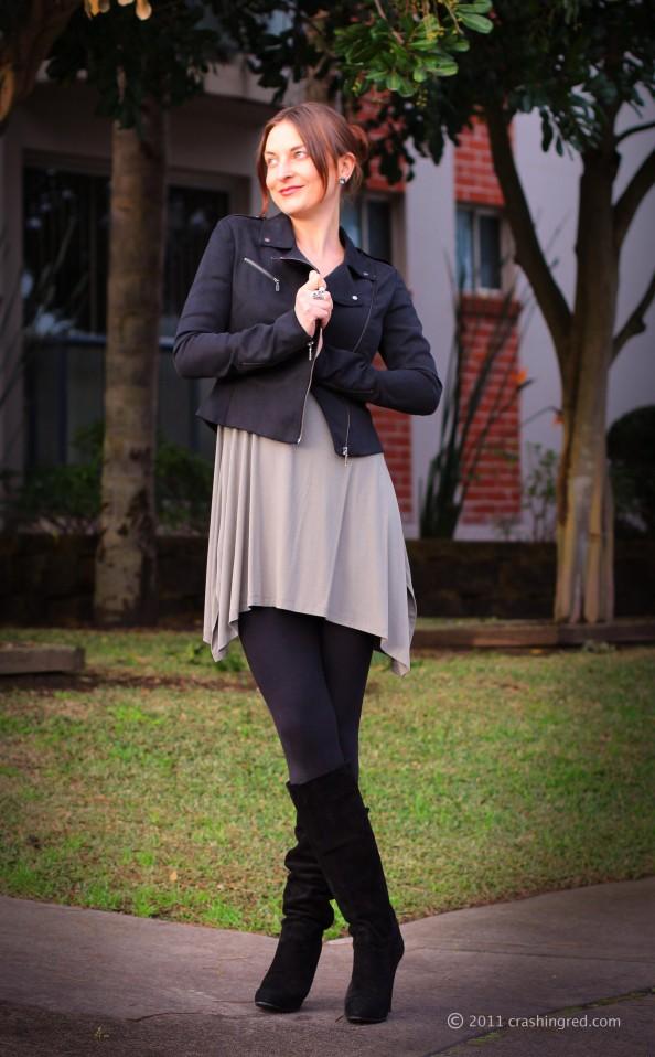 Marusya V, fashion blog Sydney, new season fashion, outfit ideas, casual style, Witchery dress, biker jacket