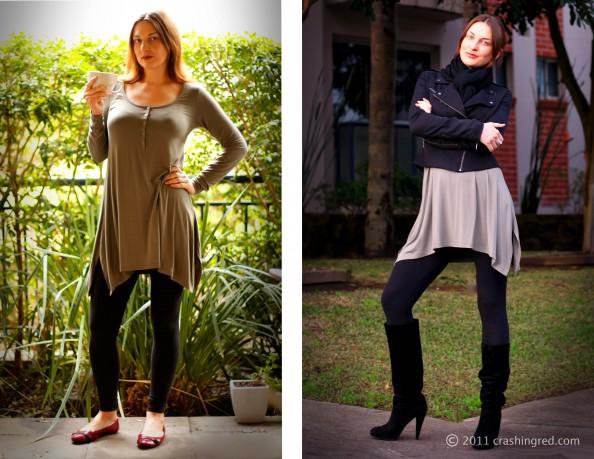 Marusya V, fashion blog Sydney, winter 2011 fashion, outfit, casual style, Witchery dress, biker jacket