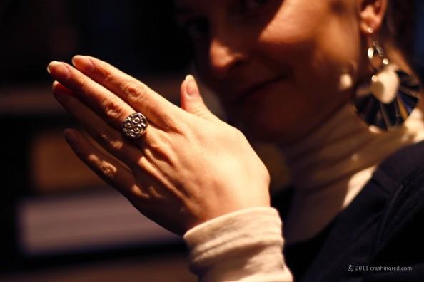 Marusya V, fashion blogger, silver ring, alternative design, jewelry