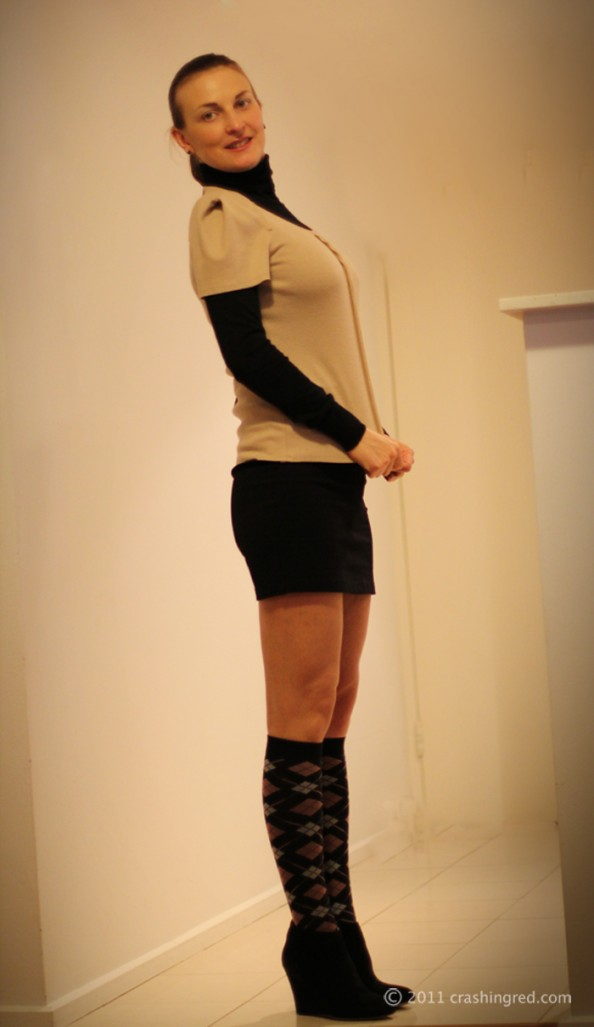 Marusya V, personal style blogger sydney, outfit, country road, knit top, winter 2012 n3ew season fashion, layering, styling socks
