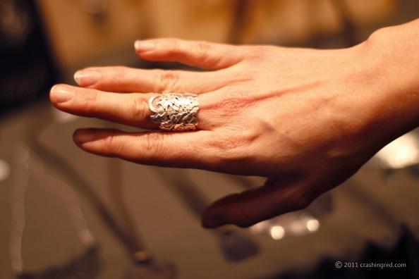 Recycled silver jewelry, organic design, syudney fashion blog