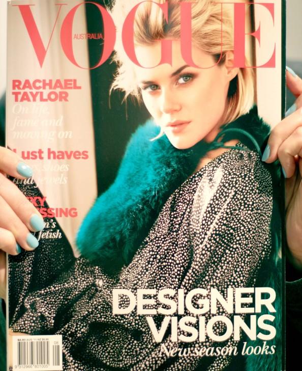 Vogue Australia August, Rachel Taylor, review, personal opinion, jewelry trend, 2011 new season fashion