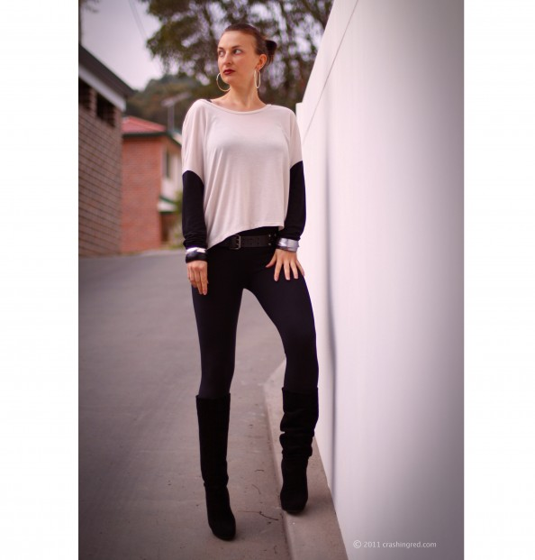 Fashion blog sydney outfit colour blocking black and white