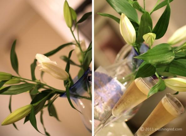 Marusya V birthday Sydney fashion blog white lilies, champagne