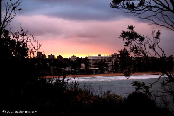 Shelly beach park, sydney northern beaches, sunset, Manly beach, lifestyle blog