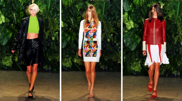 altuzarra new york fashion week 2012 summer trend report brights, leather, lime green, red and white