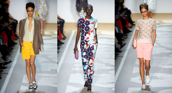 von furstenberg new trends spring summer 2012 bright shorts, bright pastels, pink color, pijama pants