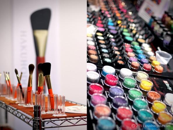 IMATS 2011, Gorgeous cosmetics pigments, Hakuhodo brushes, beauty blog crashingred, sydney