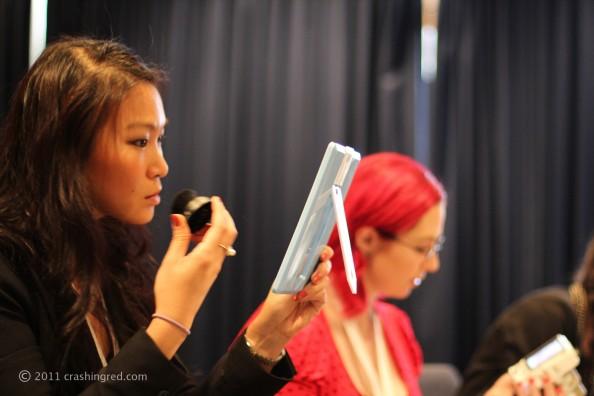 Jennise {PinkRibbon} and Jeneara {JenearaCosplay} at Face Of Australia makeup class