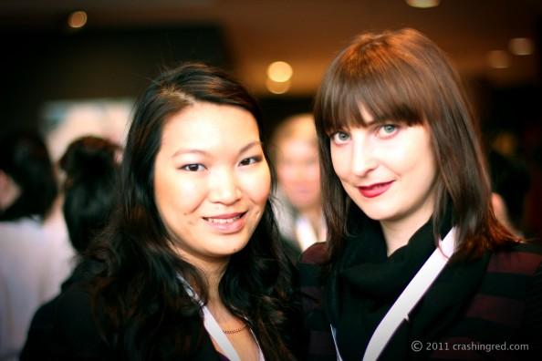 Jennise from PinkRibbonsBlog and Marusya from Crashingred, ABBW 2011, Sydney