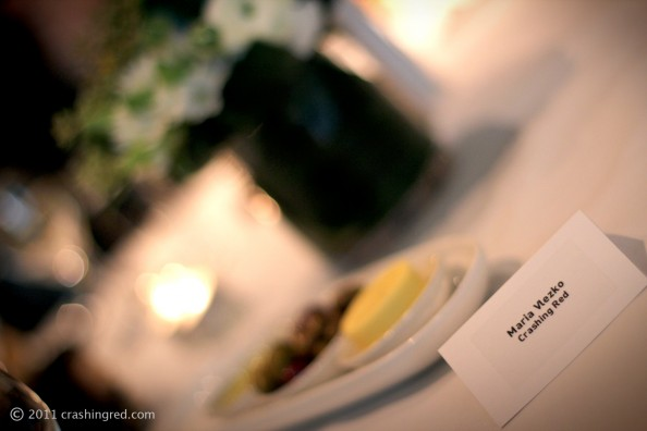 Maxted Thomas PR gala dinner for ABBW 2011 event, crashingred, beauty blog australia