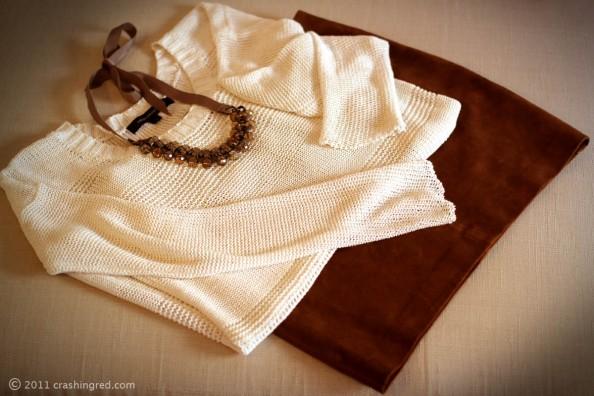best summer wear, leather skirt, white mesh knit, crystal necklace, fashion blog australia