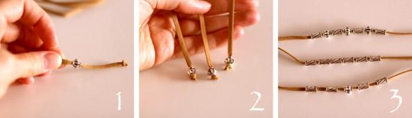 diy leather strap bracelet, how to tutorial, fashion blog australia, summer accessory