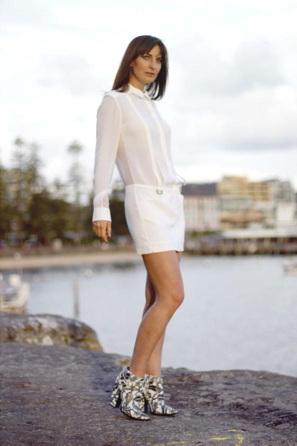 dion lee 2 braced dress white silk, summer wear, summer 2012, sydney fashion blogger