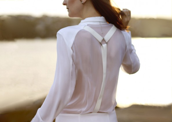 dion lee back braced dress white summer wear