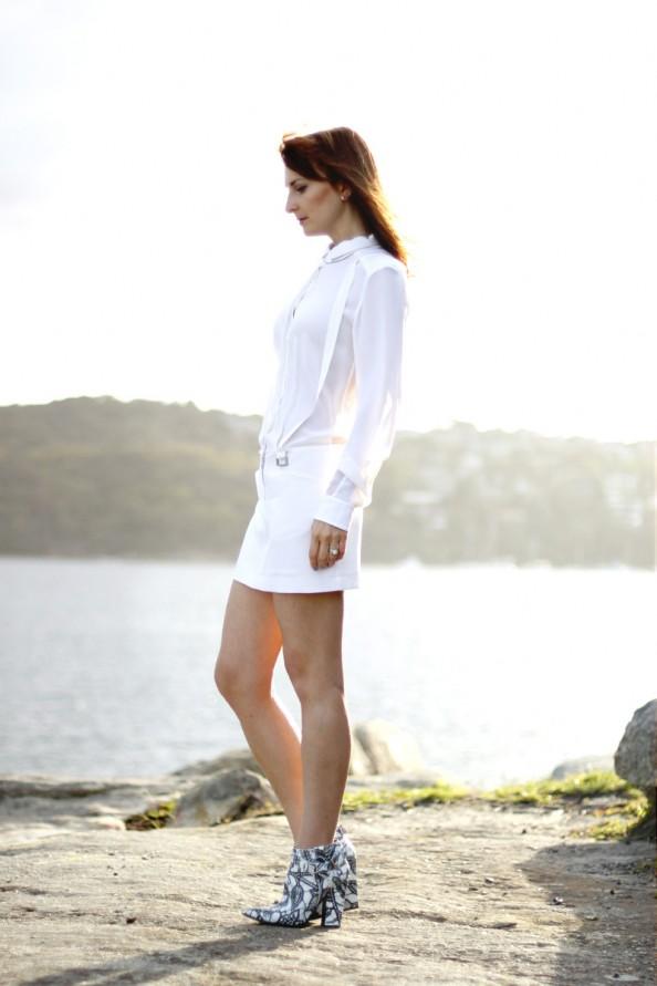 dion lee back braced dress white summer wear, australian designer, summer 2012 fashion, sydney blog