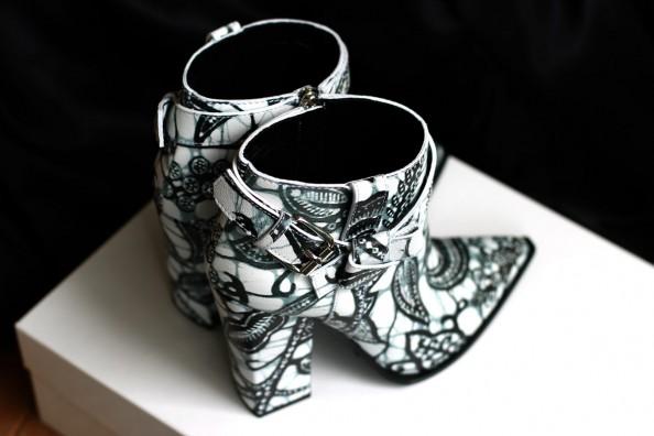 thakoon ankle booties, printed leather, fashion blog australia