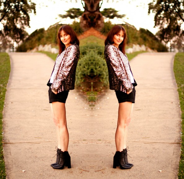 Gold sequinned blazer Zara, high heeled ankle booties, how to style, summer fashion trend, australian fashion blogger