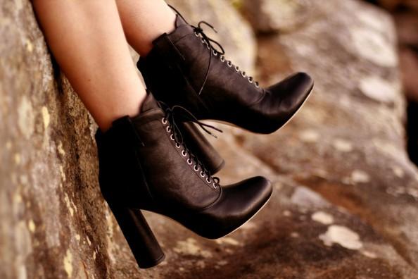 Loeffler Randall laced up booties, high heeled booties, australian fashion blog