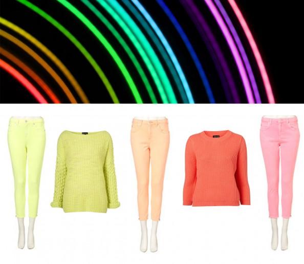 neon jeans, neon jumper, neon fashion trend, best buys