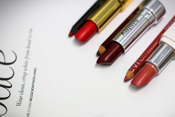 sisley lipstick burgundy, chanel red lipstick, nude model co lipstick, pretty color