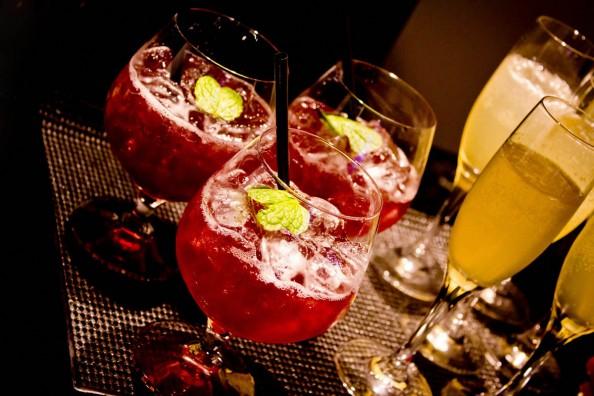 emporio armani sydney store launch, cocktails