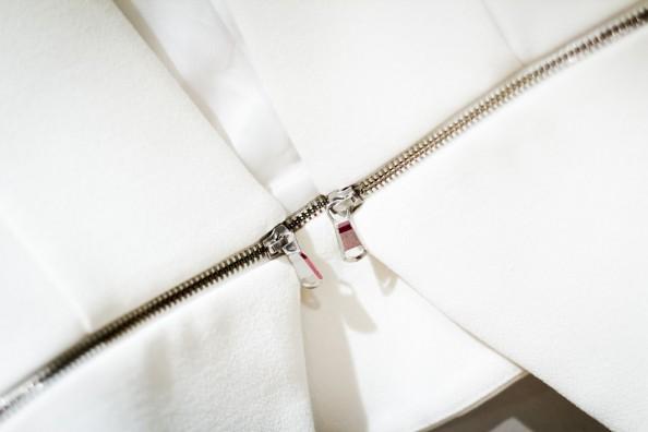 white blazer with zips