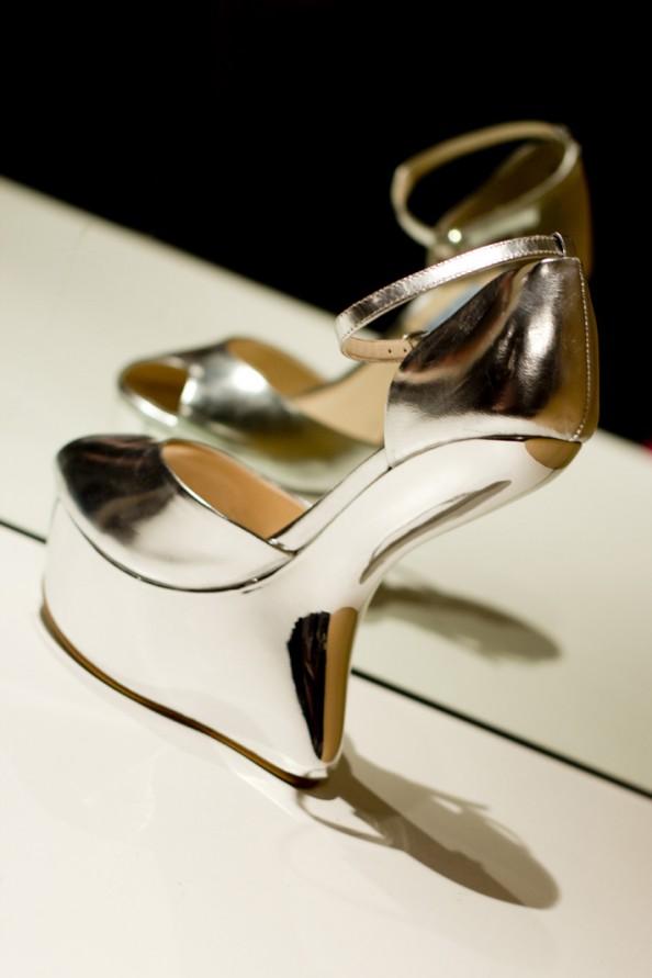 lady gaga shoes in metallic leather 2