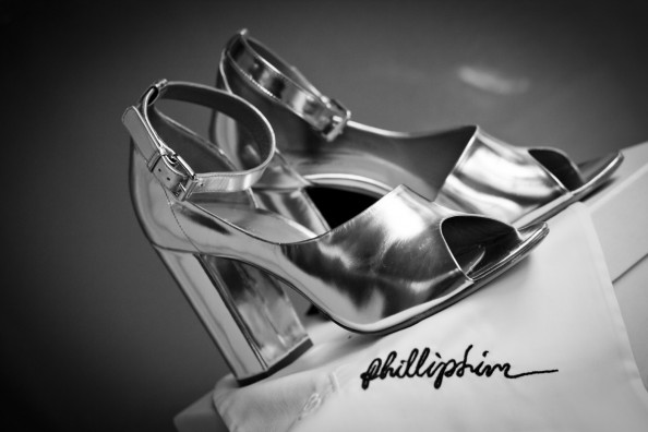 Phillip Lim Cody D Orsay mirrored metallic leather shoes