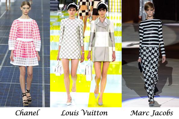 summer 2013 fashion trends, check print, louis vuitton