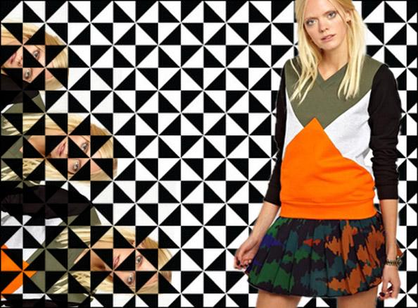 asos geo print jumper