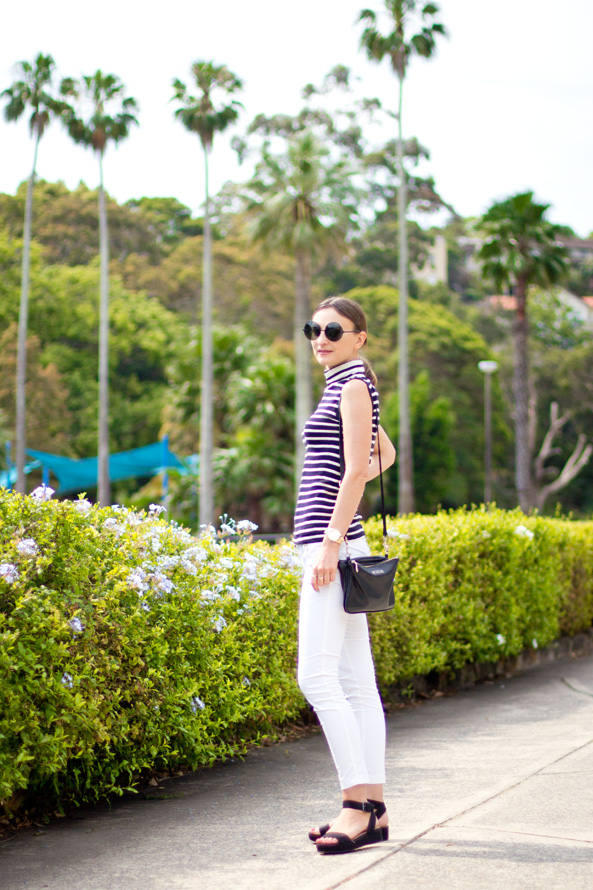 summer outfit white jeans