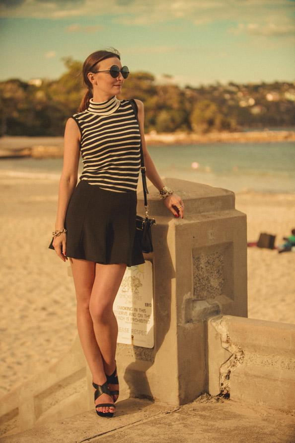 bec and bridge black skirt